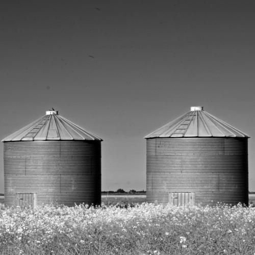 Fuerza de voluntad. Imagen que muestra dos silos en el campo.